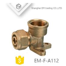 EM-F-A112 Raccord de tuyau de compression en té en laiton de type fixe