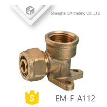 EM-F-A112 Fixed type tee brass compression pipe fitting