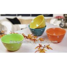 KC-04012colorful dots serving bowls,ceramic serving bowl