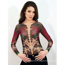 2015 new fashion design hot sell skin tattoo T-shirt and tattoo sleeves