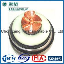 Cables de goma pesados de calidad superior profesional 5core sólido encallado