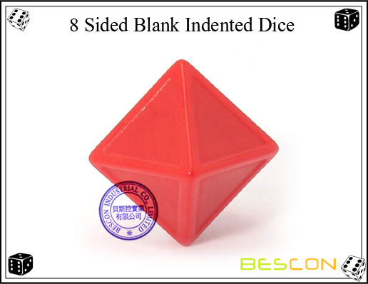 8 Sided Blank Indented Dice-2