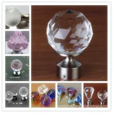 Decoración del hogar de la venta caliente Perillas y manijas del gabinete del vidrio cristalino