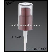 18/415 vaporisateur de bouteille en plastique de café avec le chapeau clair, déclencheurs cosmétiques de pulvérisateur de bouteilles, pulvérisateur de pompe de parfum