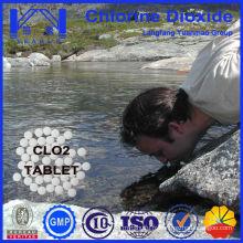 Meilleure tablette de dioxyde de chlore désinfectant pour la stérilisation de l'eau potable
