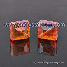 Mixed Color Crystal Square Shape Cuboid Glass Beads for Fashion Jewelry