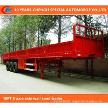 40FT 3 Axle Side Wall Semi Trailer