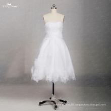 TW0169 3D Flowers Sleeveless Sweetheart sexy short wedding dress