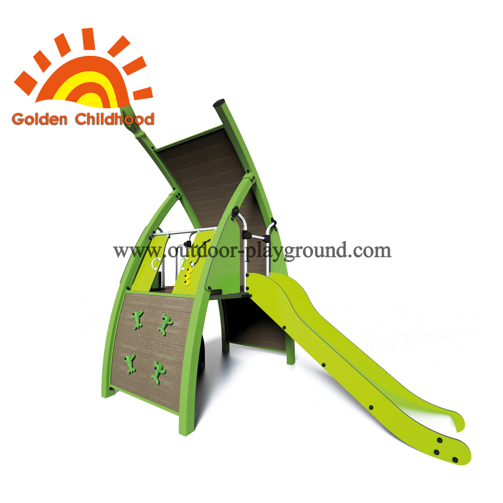 Green Single Panel With Slide Playground Equipment For Sale