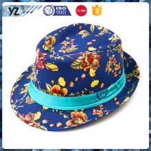 Factory sale all kinds of fedora hat printing flowe in stock drop shipping drop shipping