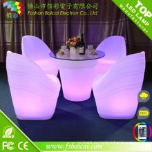 Muebles de bar LED impermeables para exteriores recargables