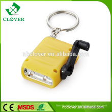 Energía de ahorro de 2 LED manivela mini dinamo antorcha con linterna de color variedad