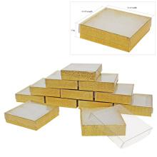Таможенная подарочная коробка для ювелирных изделий с велюровыми вставками