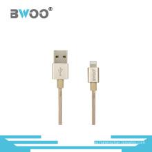 Cable colorido al por mayor de los datos de Micro / 8pin USB con el alambre trenzado