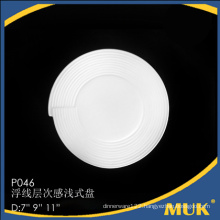 wholesale embossed cheap and fine ceramic plate set