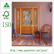 Porta de madeira francesa de entrada (porta de madeira)