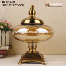 Business Büro Schreibtisch Restaurant Tischdekoration Chinesisch Stil Glas Vase Stand