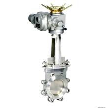 China baixo preço de alta qualidade de 24 polegada motorizada válvula de porta da faca com 4-20MA