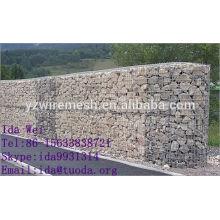 Caisse de gabion trempée à chaud / cage de pierre / panier de gabion