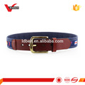 Popular canvas and leather belts