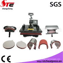 8 em 1 Multifuncional Combo Digital T Shirt Comb Heat Press Machine