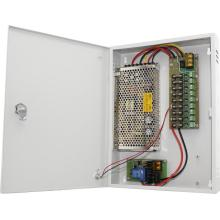Unidade de fonte de alimentação CCTV com backup 12V10A