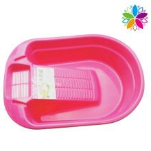 Lavabo de plástico con lavabo para casa (SLP035)