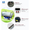 Pintu Kaca Freezer Mini Portable Di Roda