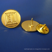 Insignia desigual del oro de la solapa plateada, insignia del metal (GZHY-LP-015)