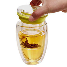 Borosilicat Glas Doppelwand Glas Teetasse mit Infuser