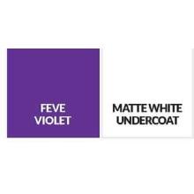 Sous-couche blanche mate / FEVE Violet Building Aluminium Sheet