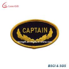 Cor do ouro logotipo bordado lapela bordada distintivo
