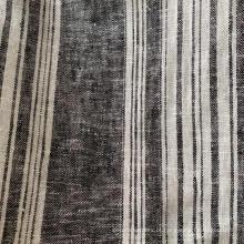 Tecido tingido de fio de viscose de linho