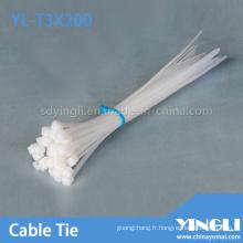 Collier de serrage en nylon pour câbles 2.5X200mm (YL-T3X200)