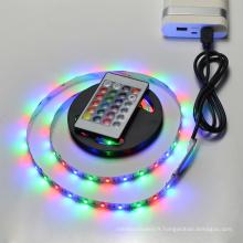 Télécommande 5 V 50 cm 1 m 2 m IP20 IP65 RVB 3528 60LEDs / m SMD 5050 30LEDs / m TV fond USB LED bande lumière