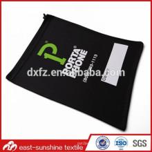 Silk screen logo print designer microfiber embroidery phone pouch