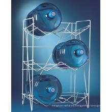 Revestimiento en polvo de 3 pisos blanco de publicidad de alambre de metal botella de agua exhibidor