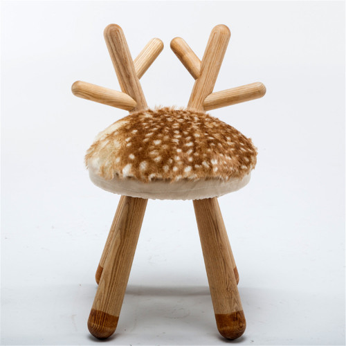 Chaise molle en forme d'animal en bois