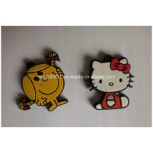 Cartoon Rubber Logo Promotion Gift Korea Design Sew on Soft Rubber Patch, PVC Repair Patches for Bag and Uniform