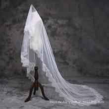2017 Wunderschöne Prinzessin Kathedrale Hochzeit Schleier lange Spitze