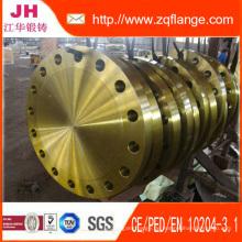 A105 von gelber Farbe Flansch BS4504