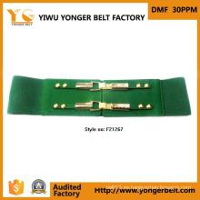 Cinturón de tela embellecido elástico de calidad superior para las mujeres
