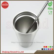 500ml Vakuum-Bier-Cup, doppelte isolierte Edelstahl Atraw Drinking Cup
