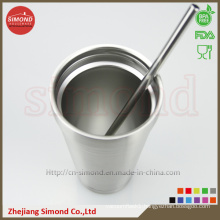 500ml Vacuum Beer Cup, Double Insulated Stainless Steel Atraw Drinking Cup