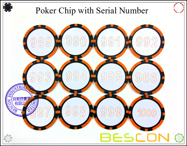Poker Chip with Serial Number-2
