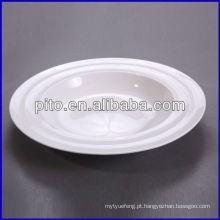 Fábrica da porcelana de P & T, placas brancas da sopa, placas de linha mordern