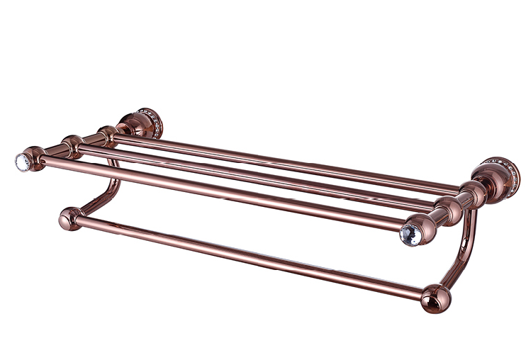shower brass towel shelf