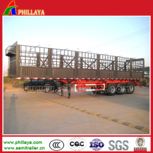 3 Axles High Flat Bed Strong Stake Truck Trailer
