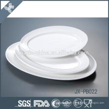 pate à dîner ovale en relief, plaque à pizza, assiette en porcelaine