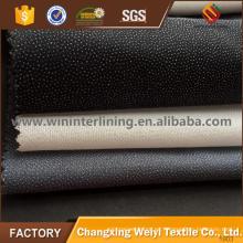 Pantalones de 20-90 g / m2 PA / PES forro fusible no tejido laminado en caliente